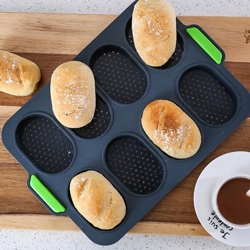 "8/"" Baking Mould Silicone Cake Pan DIY Cake Bakeware Round Bread Kitchen Tray je"