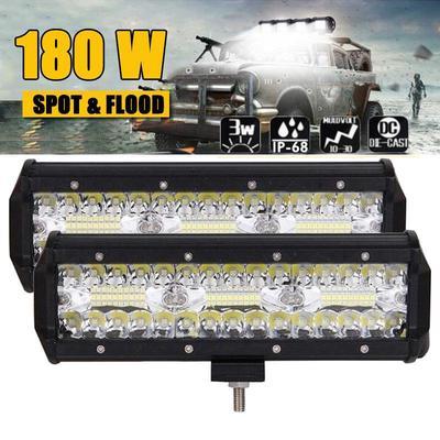 2 Pack Automotive LED Work Light Bar,5 Inch 72W Modified Off-Road Lighting 12V//24V,for Truck ATV SUV Auxiliary Worklight,Sport Driving Light,Fog Light Boat Lamp Marine