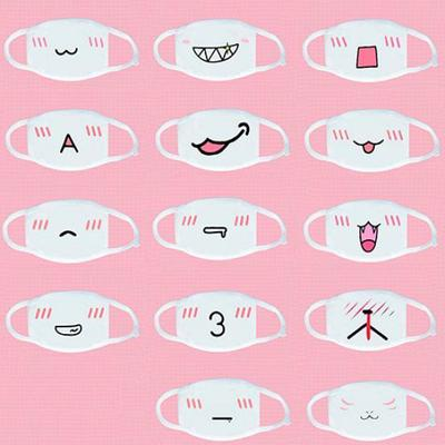 Cute Mouth-Muffle Anime Mouth Mask Anti-Dust Kawaii Face Mask 04