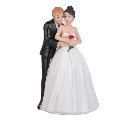 ROMANTIC BRIDE AND GROOM COUPLE WEDDING CAKE TOPPERS DECORATIONS RESIN FIGURES