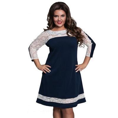 cc1a91e0bfe Womans летнее платье большого размера розовый элегантность кружева платье  большого размера