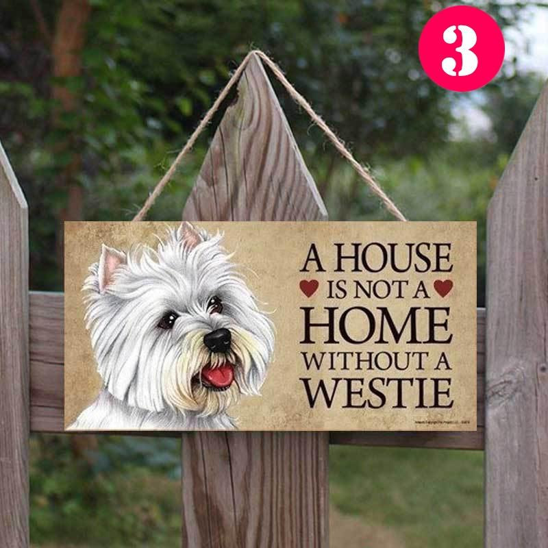 Personalised Dog Sign Wooden Plaque House Gift Wall Hanging Birthday Christmas
