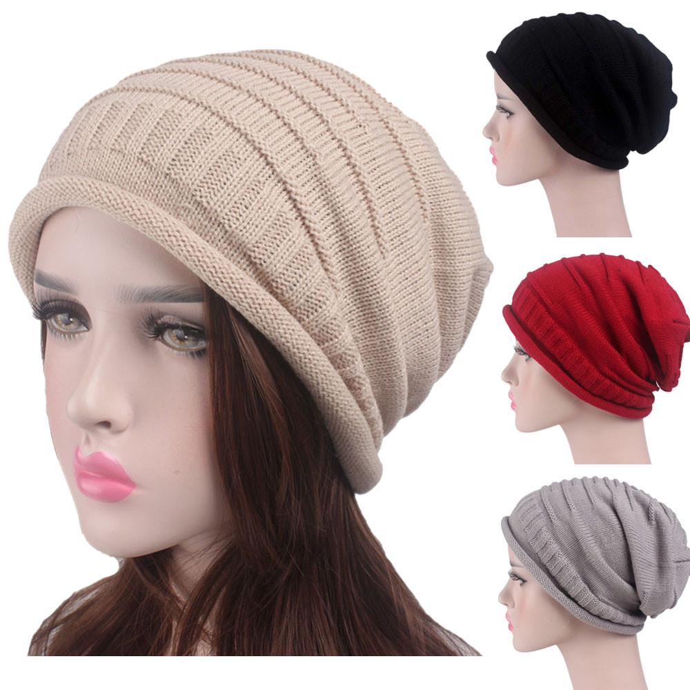 ac03b0dc2b9f06 Women Ladies Retro Winter Knitting Hat Turban Brim Pile Cap-buy at a low  prices on Joom e-commerce platform