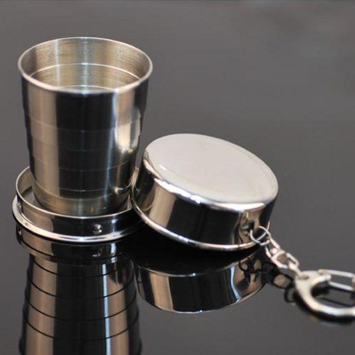 Tout en acier inoxydable pliable coupe tasse tasse de blackjack