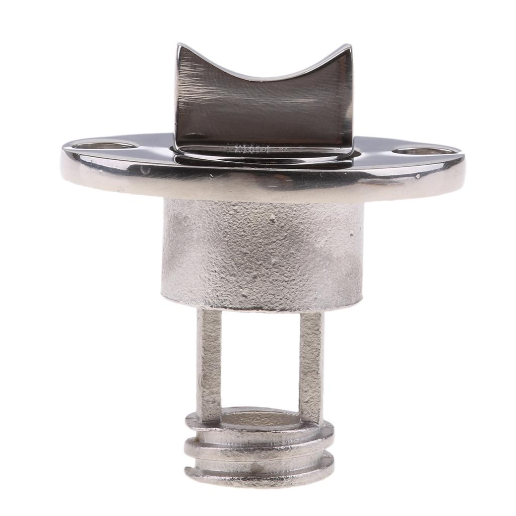 Oval Garboard Drain Plugs Stainless Steel Boat Fit 1 Inch Hole Thread for 3//4 Inch