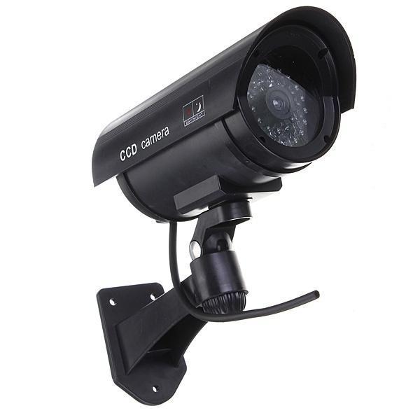 Rote Led Outdoor Surveillance gefälschte Dummy Cctv