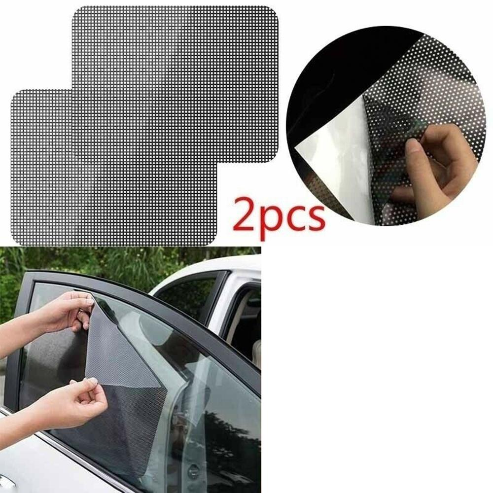 2 Pack for Front Window /& 2 Pack for Back Window Grebest Car Window Sunshade External Decoration Sunshade 2//4Pcs Car Sun Shade Mesh UV Blind Rear Front Side Window Screen Cover Protector