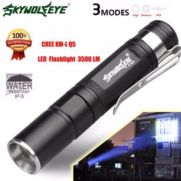 3500 Lumens 3 Modes CREE XML XPE LED AA Home Outdoor Flashlight Torch Lamp Light