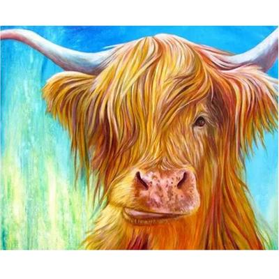 DIY Diamond Painting Cow Picture for Adults Diamond Mosais Art Craft Round Full Painting
