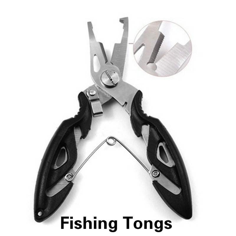 """Stainless Steel Fishing Plier Scissor Line Cutter Hook Remover Forceps Tackle 5/"""""""