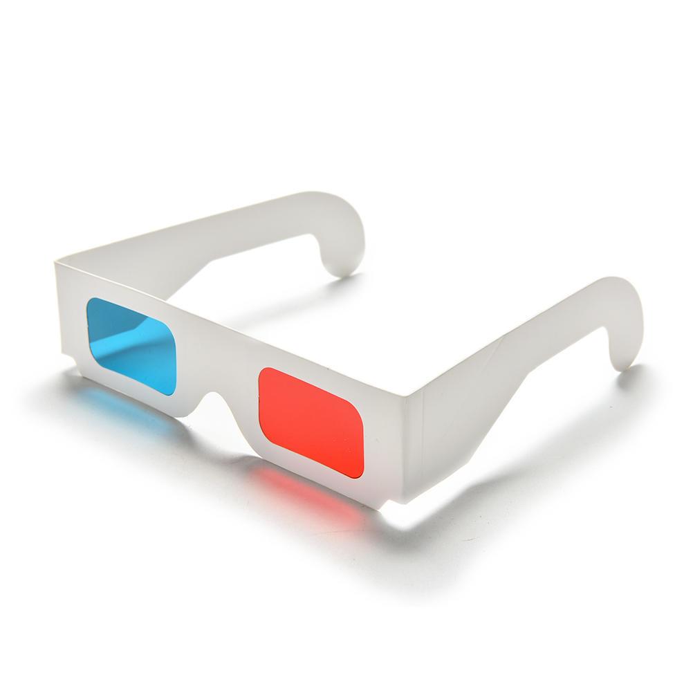 b8d1bd2ae2 10pcs anaglifo Universal cartulina azul vidrios ciánicos rojos 3D Video  ahora - comprar a precios bajos en la tienda en línea Joom
