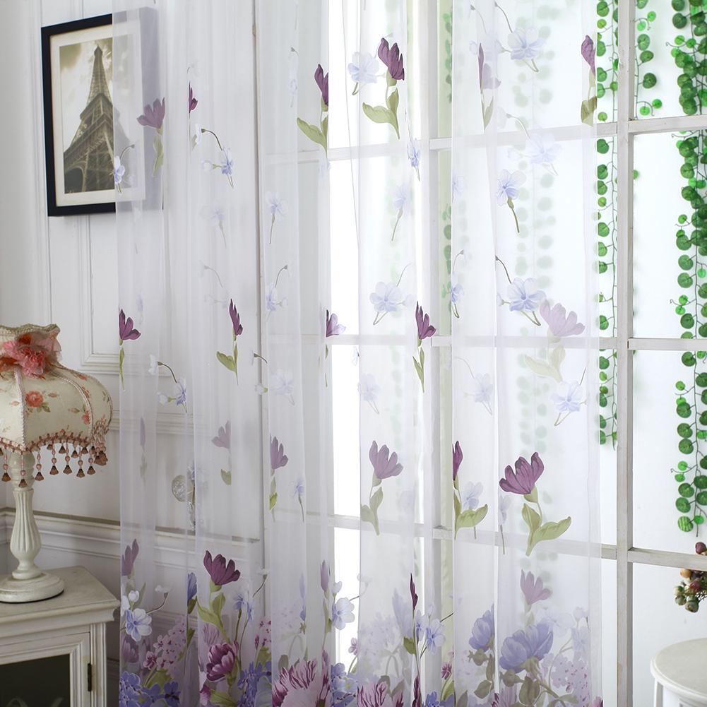 Peony Цветочная домашняя спальня Тулле Фахион Drape Панель Voile Valance – купить по низким ценам в интернет-магазине Joom