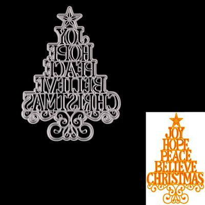 Christmas Tree Metal Cutting Dies DIY Craft Stencil Paper Card Decor Die Cuts Bs