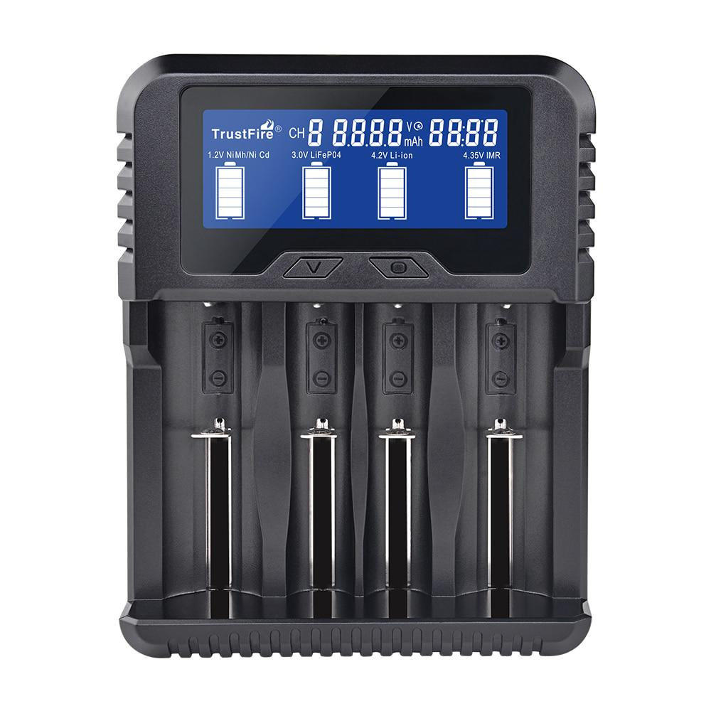 Trustfire Universal Li-ion Ni-MH Smart Charger 6 Slot for 18650//16340//26650 NiMH