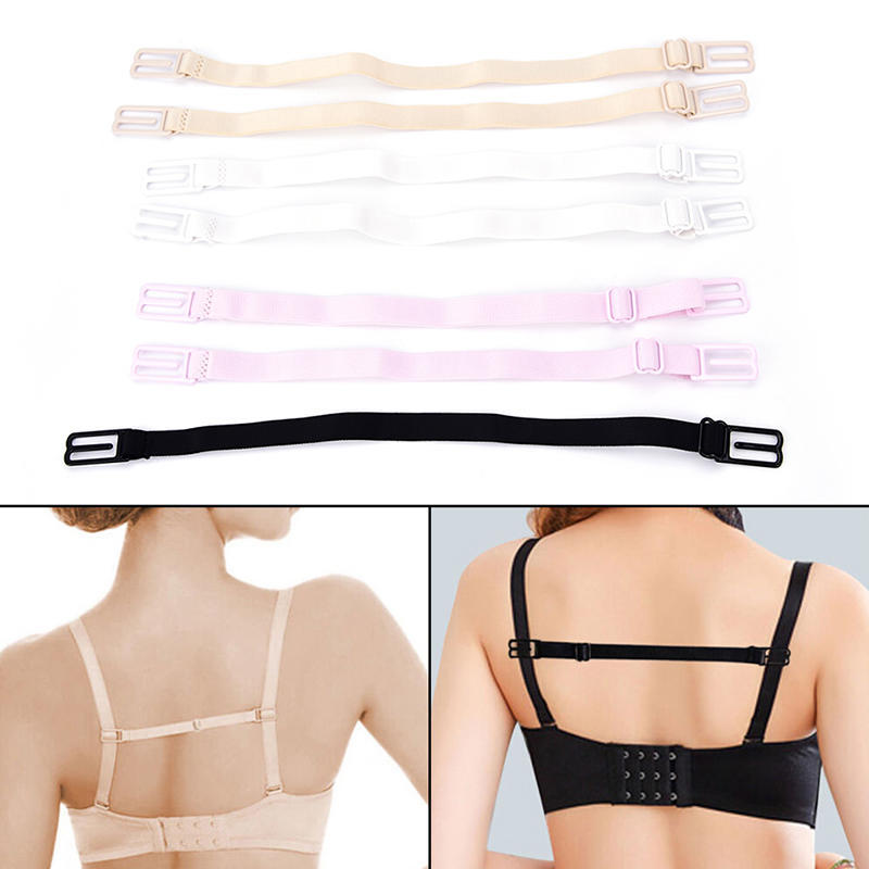 Ladies Low back Strap Adaptors for bra/'s White 20mm