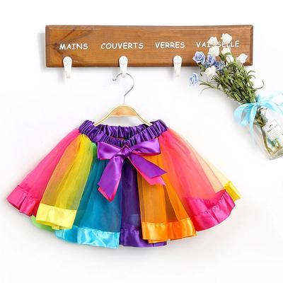 Size S TINKSKY Little Girls colorful Skirt Layered Rainbow Tutu Skirt Dress Ballet Skirt