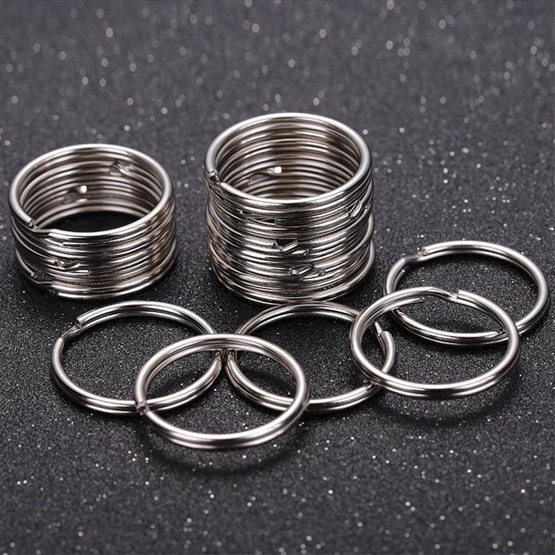 Pocket 25//28//30//32mm Chain Loop Keychain Split Key Ring Stainless Steel