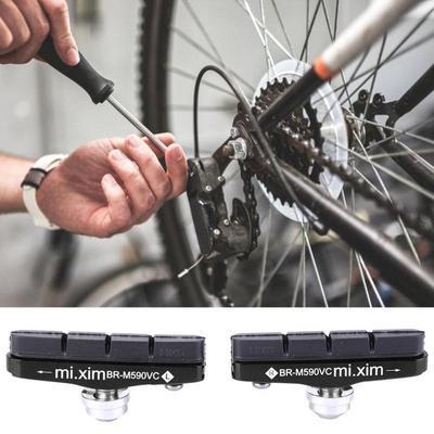 2pcs Road Cycling Bike Caliper Brake Holder Rubber Pad Block Bicycle Accessories