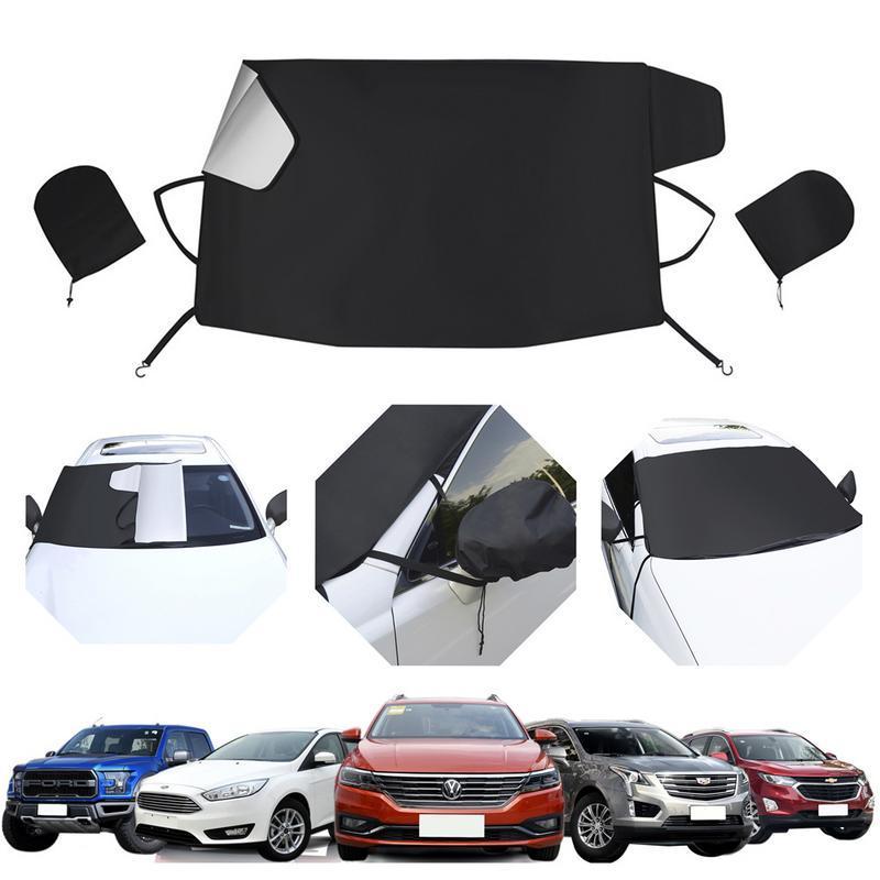 Auto Car Sun Shade Auto Sunshade Windscreen Sun Visor Covers Solar Frost Ice Shield Dust Protection Winter Car-Styling Car Cover,Black
