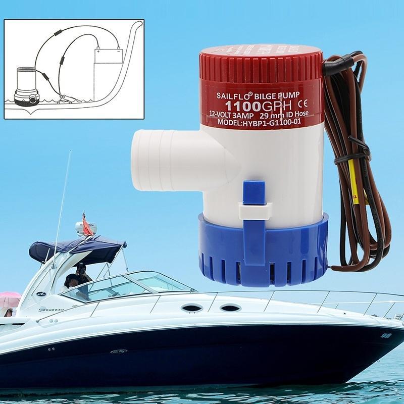 24V Bilgepumpe 1100GPH Unterwasser Wasserpumpe Marine Boot Yacht
