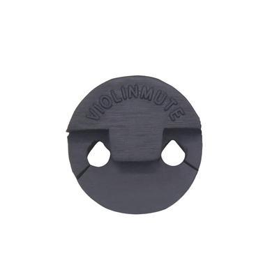 Black Round Rubber Violin Mute Silencer Accessory