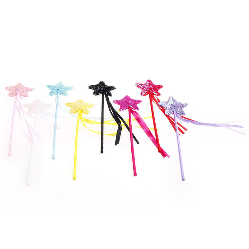 Cute Five pointed Star Fairy Wand Magic Stick Girl Party Princess Favors .*