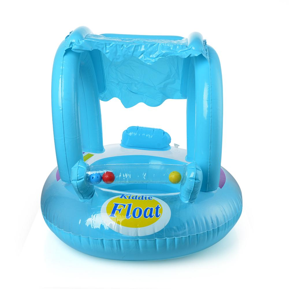 Details about  /Baby Swimming Ring Inflatable Sunscreen Bath Double Raft Sports Beach Toy
