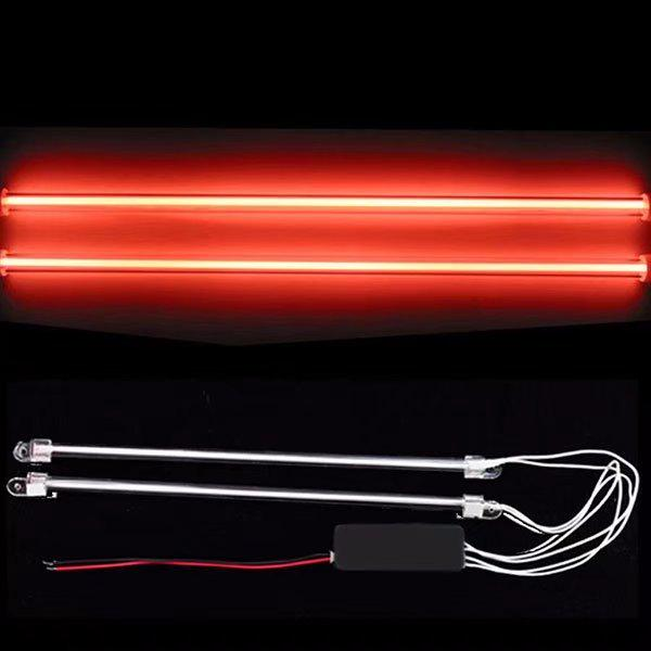 2 Piece Car Red Undercar Underbody Neon Kit Lights CCFL Cold Cathode 12/""