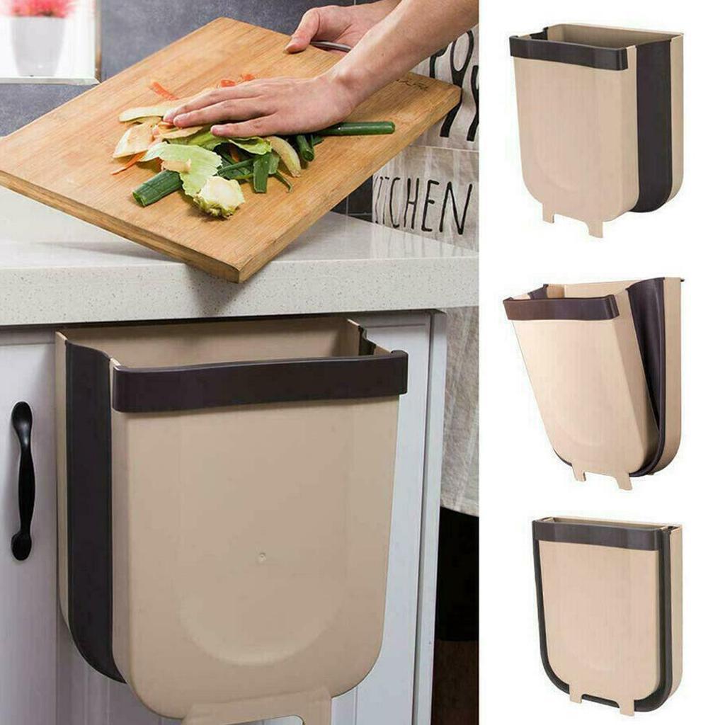 Kitchen Hanging Holder Plastic Door-back Garbage Trash Z3I3 Portable K0T8