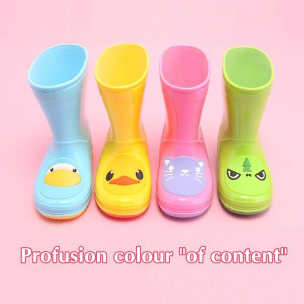 BBK Moda chicas rainboots niños pisos niño lluvia Botas Botas niños agua zapatos de los niños