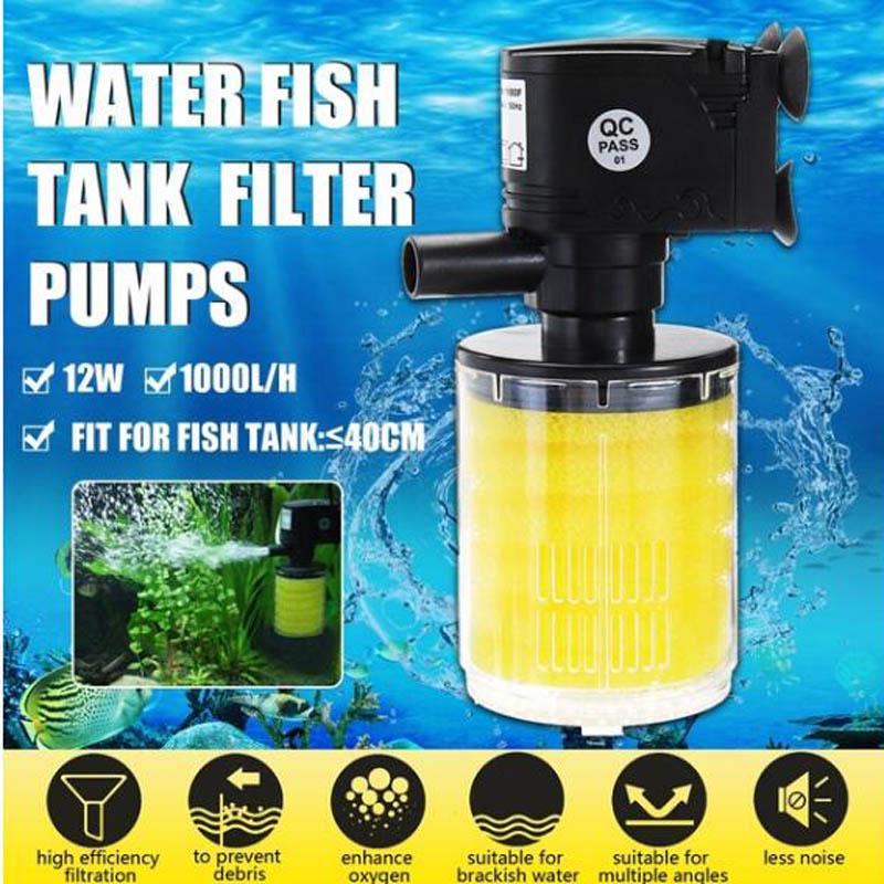 Submersible Aquarium Internal Pump /& Filter Filtration Fish Tank 1000L//H-2800L//H