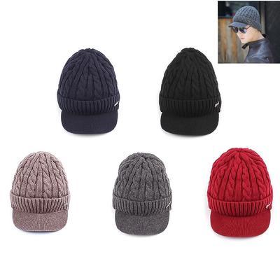 Mode Unisex Outdoor Winter Warm stricken häkeln Ski Hut geflochten ...
