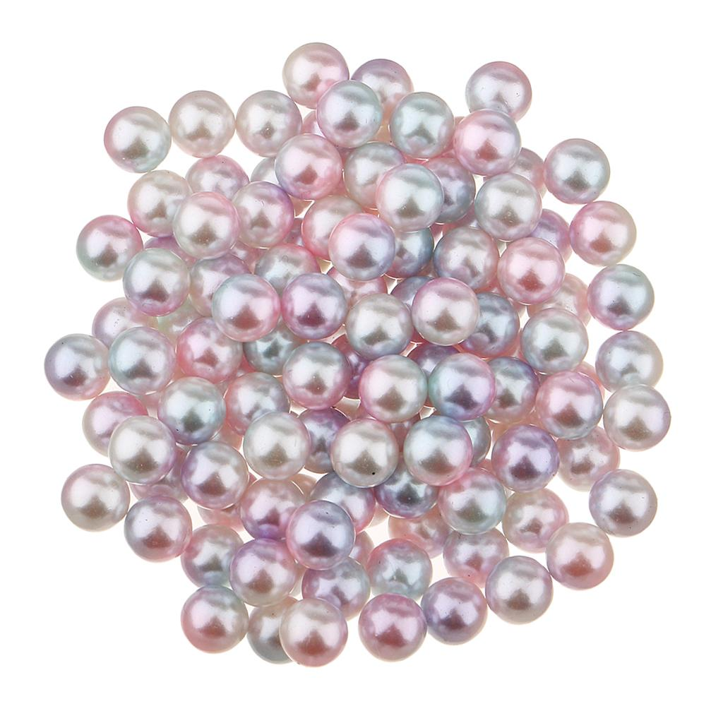 80Pcs 5mm Hot Round Pearl Beads No Hole for DIY Accessories Jewelry Making