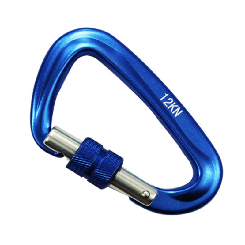 New 12KN Outdoor Climbing Carabiner Chain Clip Key Snap Hook Automatic Locking