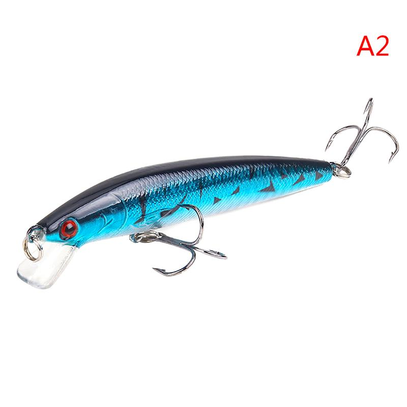 Minnow Fishing Lure 3D Eyes 10cm 7g Wobbler Bass Pike Baits Spinner Baits Gut