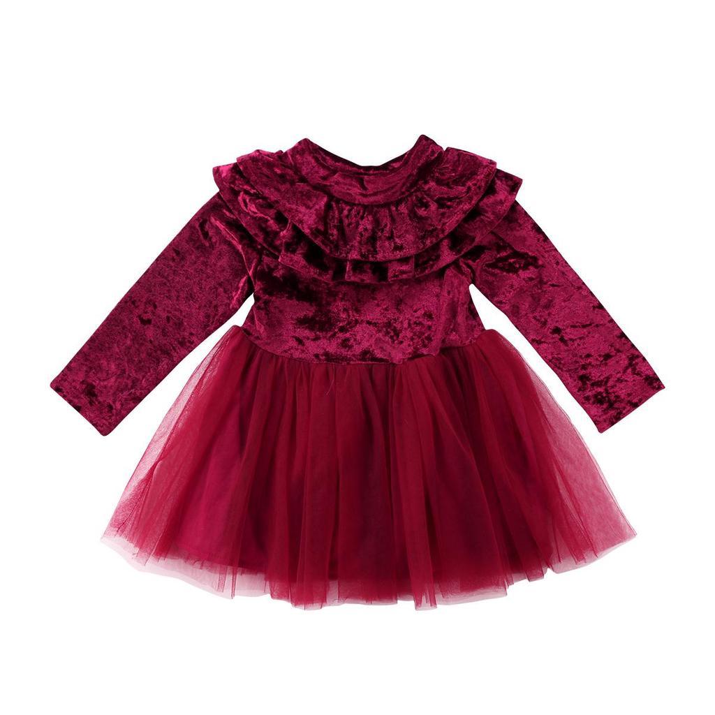 Velvet Baby Bodysuit Dress Girl 1st birthday Baby Girl Dress Velvet Baby Dress Baby Blessing dress Birthday outfit baby girl