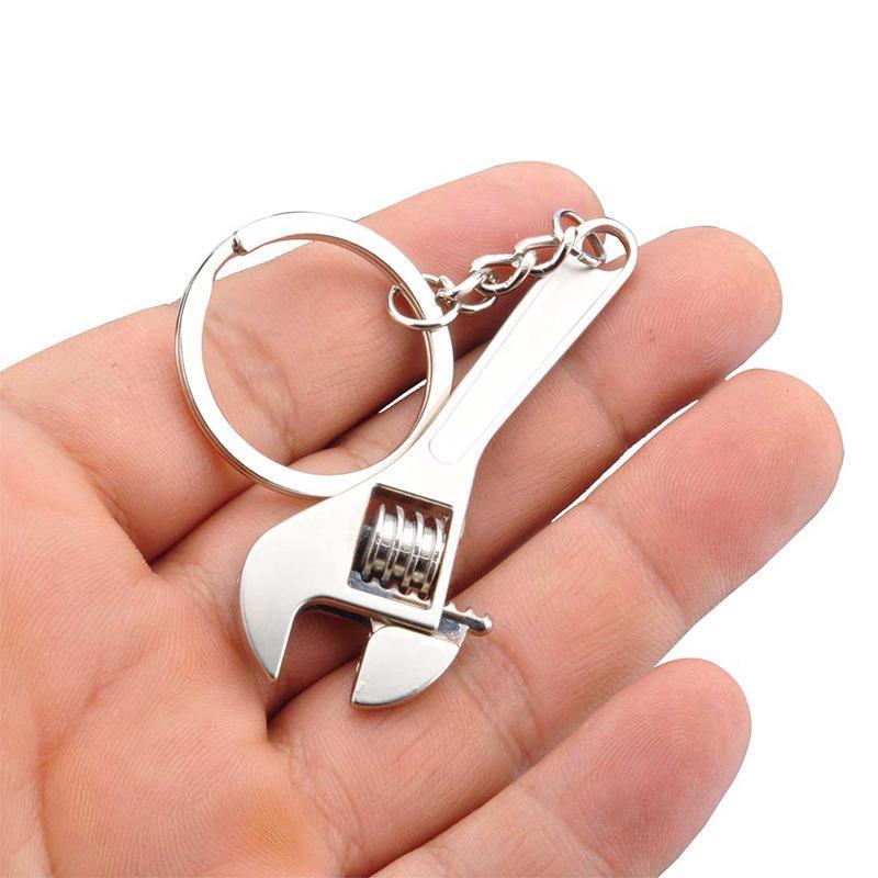 Творческий инструмент ключ гаечный ключ брелок кольцо брелок металл брелок регулируемый фото