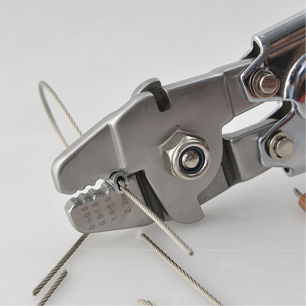 WXS-255 Elektriker Zange Clamp Cutter Draht Drahtseil sperren Crimp ...