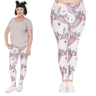 8d6b34c151f3b Women Fashion 3D Print Unicorn Pants Fitness Leggings Sports Elastic  Breathable Tights Running Pants