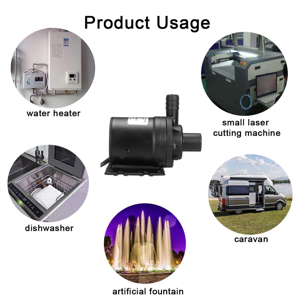 700L//H Solar DC Brushless Motor Water Circulation Submersible 12V//24V Water B0C4