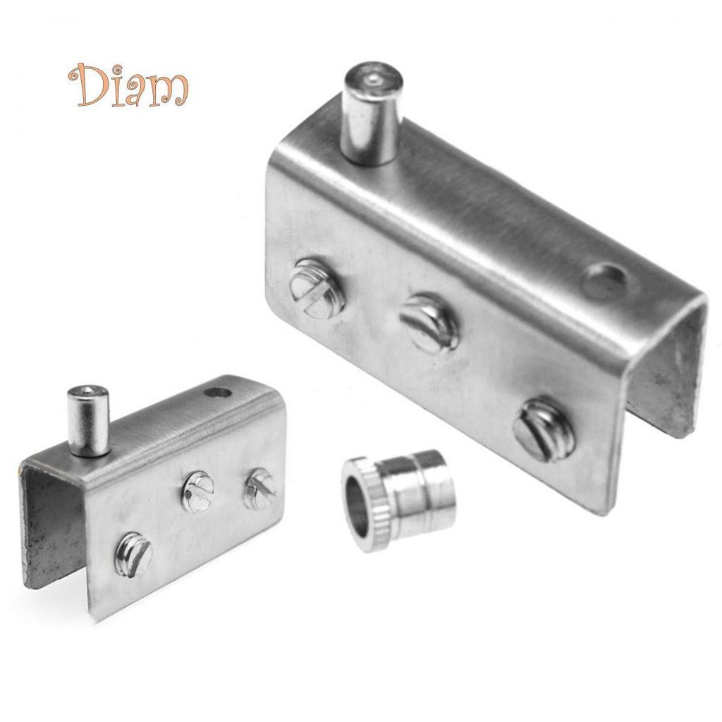 New 2 x Glass Door Pivot Hinge Set 304 Stainless Steel For 8//10//12mm Glass Door