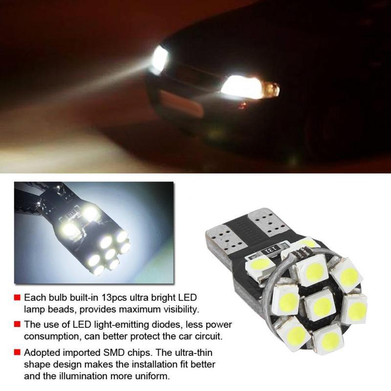 1Pcs 6W Bright T10 Led Auto Car Interior Cob Width Wedge Bulb Light 12V Blue y