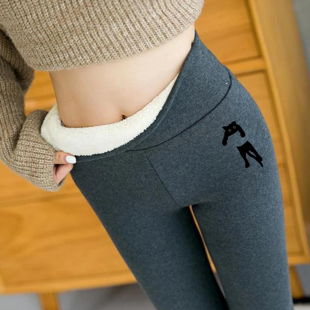 Женщины Печать Теплый Зимний Tight Толстый Бархат Шерсть Кашемир Брюки Брюки Брюки Leggings – купить по низким ценам в интернет-магазине Joom