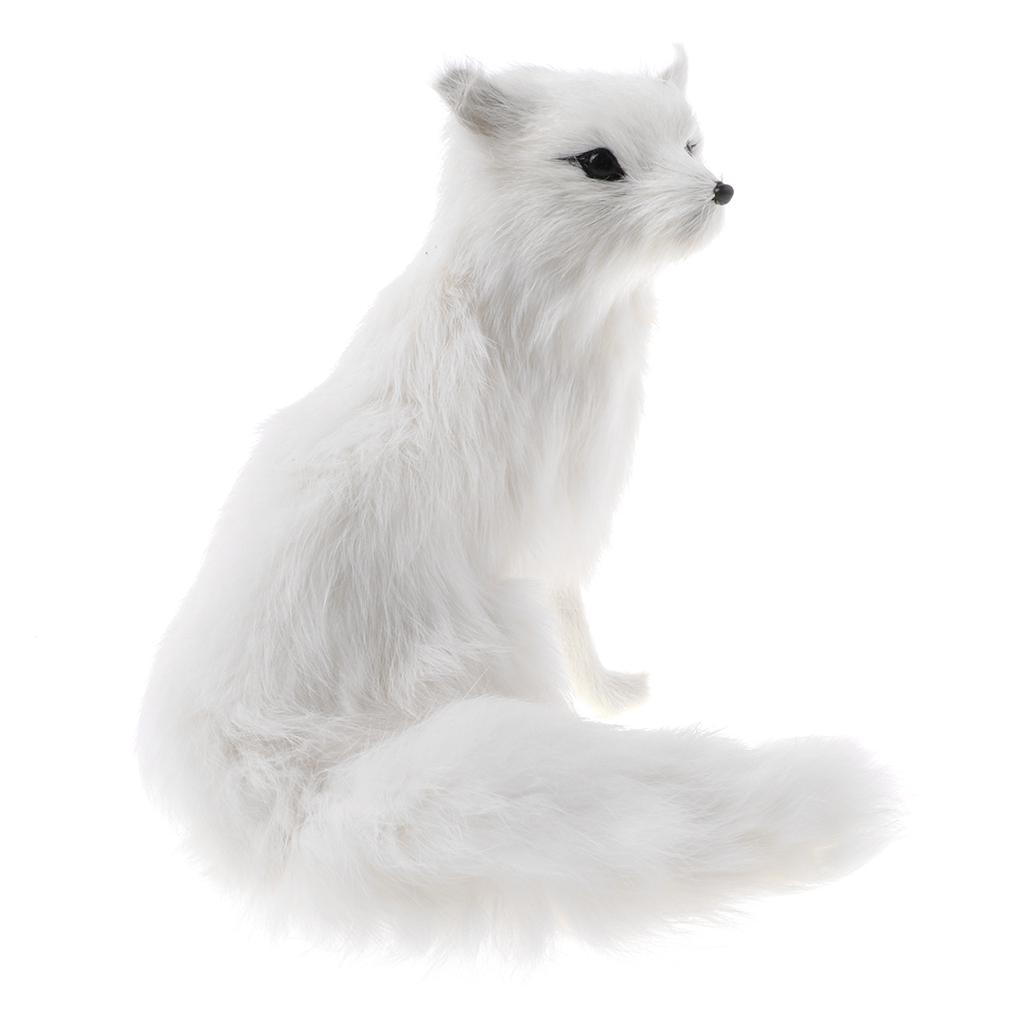 Lovely Simulated Animal Lowrie Realistic Plush Toy Soft White Children Gift L