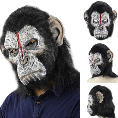 Animal Masks Animal Themed Costumes Monkey Orangutan Mask Cosplay Prop Halloween Accessories Men Women Face Mask Full Head Novelty & Special Use Boys Costume Accessories
