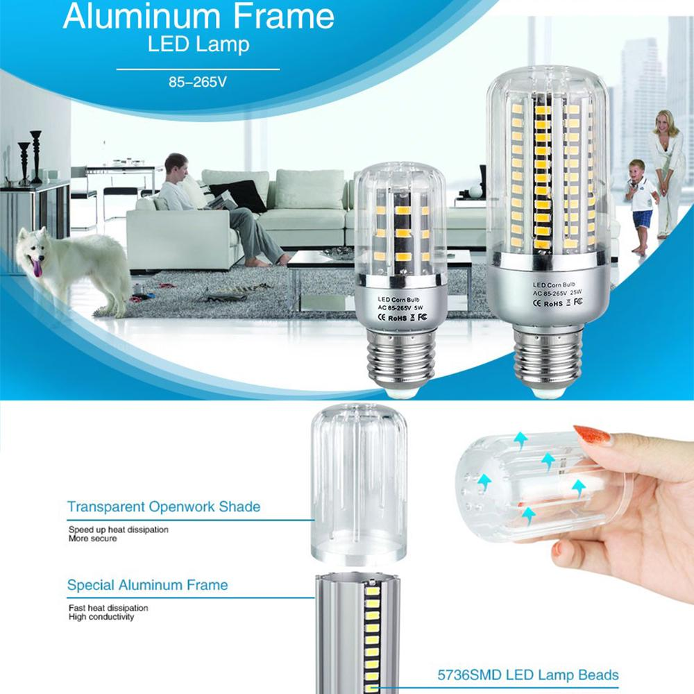 E27//E14//E12//B22//GU10 LED Corn Light Bulb SMD Spotlights Lamp 5W 10W 15W 20W 25W