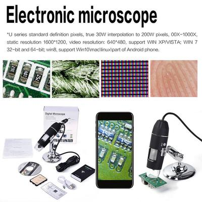 1600X Microscope 8 LED USB Digital Handheld Magnifier