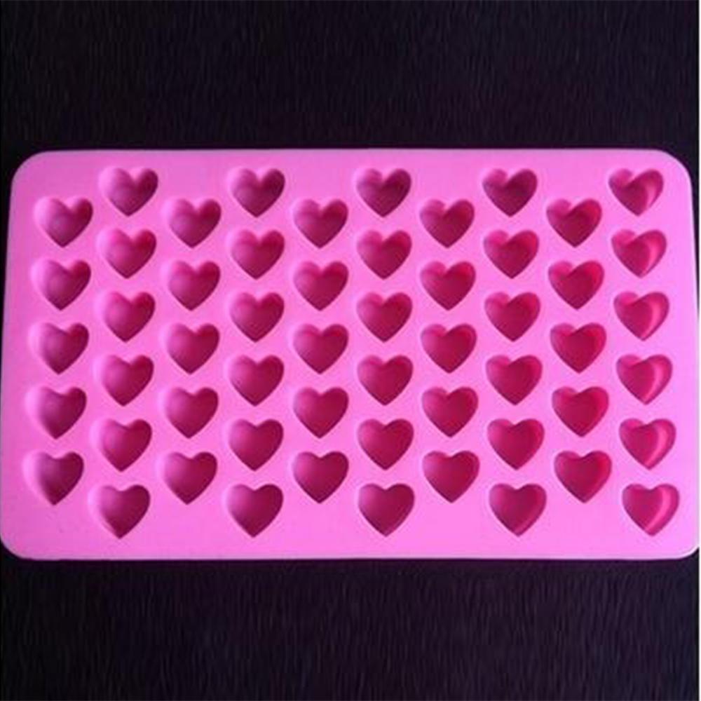 55孔硅胶心形蛋糕巧克力蛋糕烘焙模具装饰模具DIY
