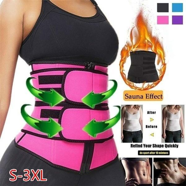 Neoprene Men Women Waist Trainer Belt Sauna Sweat Body Shaper Tummy Control Slim