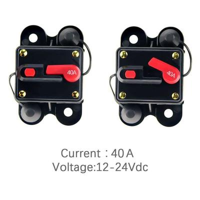 12V-24V Inline Auto Waterproof Circuit Breaker 60 AMP Manual Reset Switch